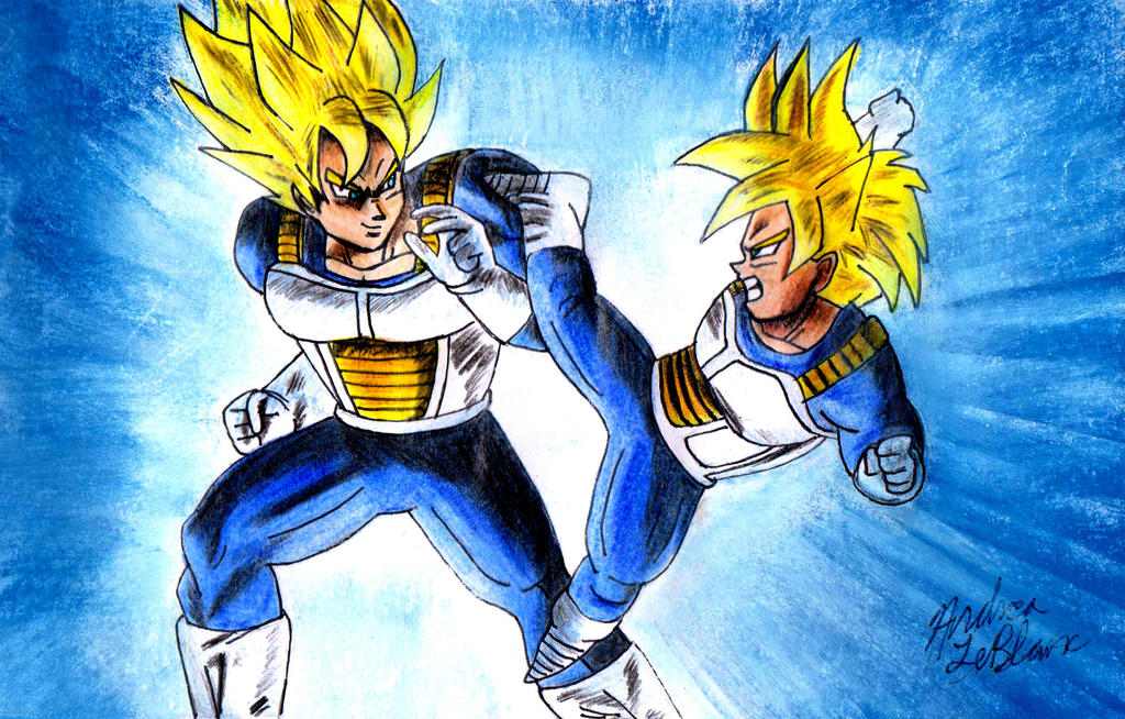 Goku and Gohan - Training by Jaylastar