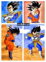 Goku vs Vegeta (Saiyan Saga) by Jaylastar