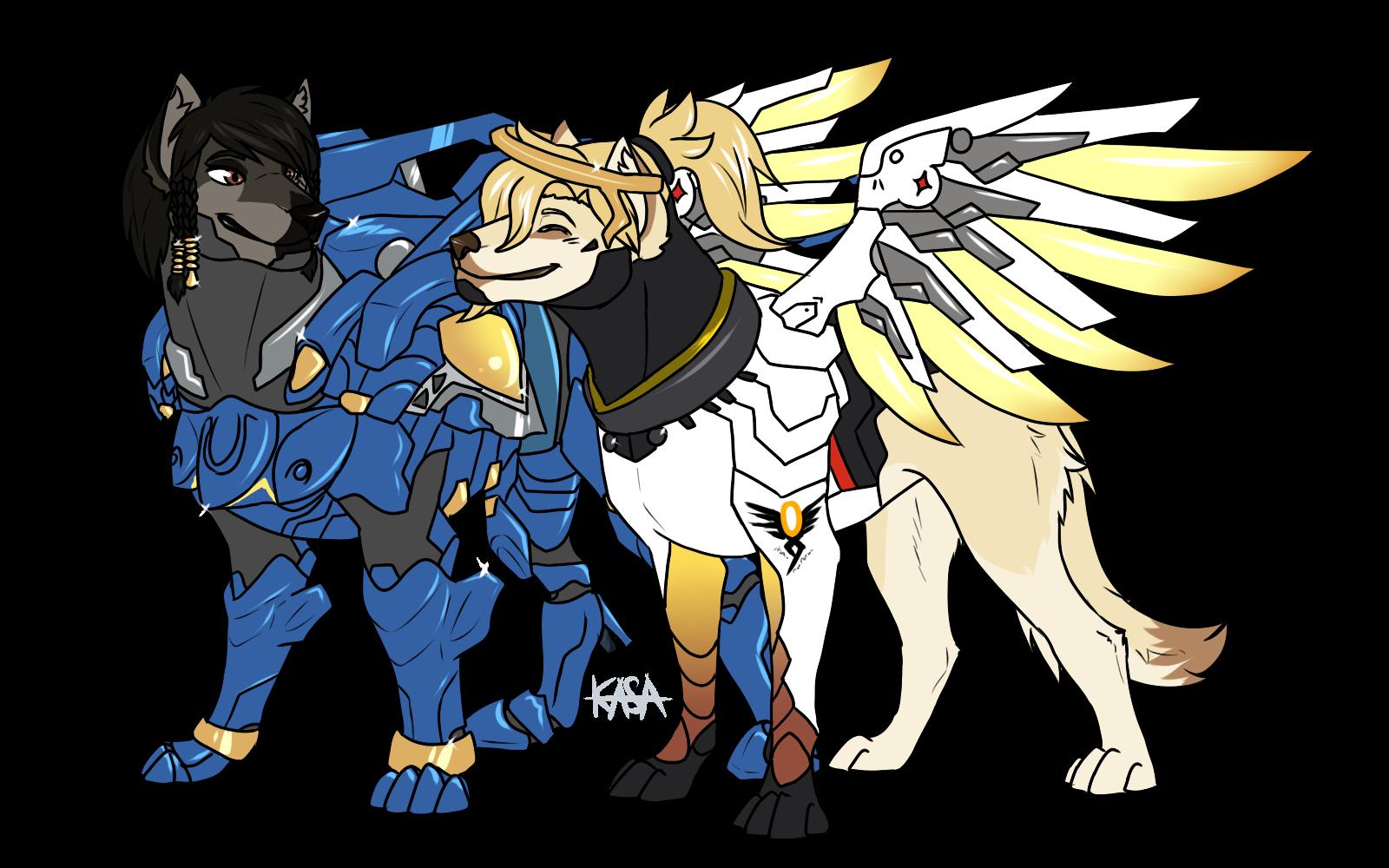 OW Phara And Mercy Dog AU By Kasaru2911 On DeviantArt