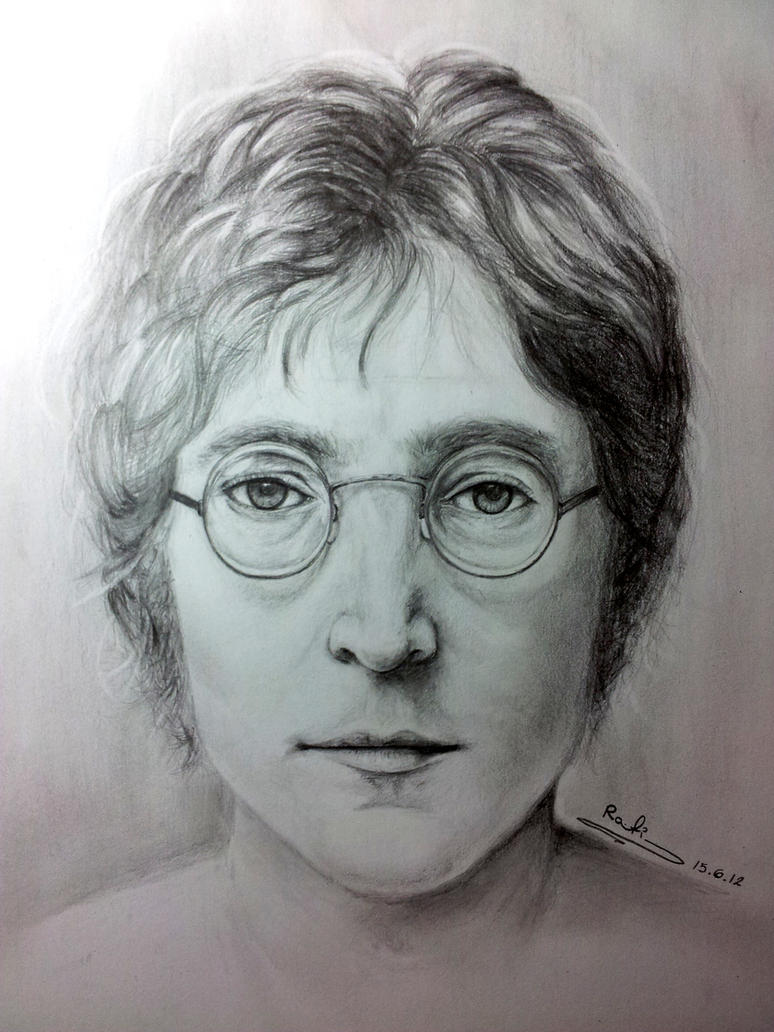 It's just a photo of Crafty John Lennon Drawing