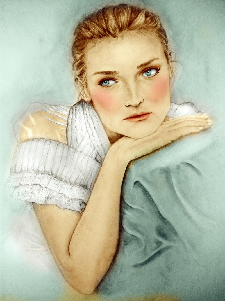 Diane Kruger - the colored version by Raphael-25