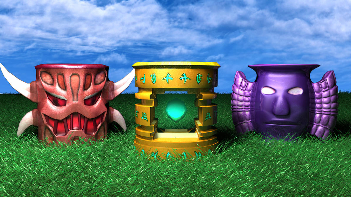 Elemental Totems by Buga-Wuga