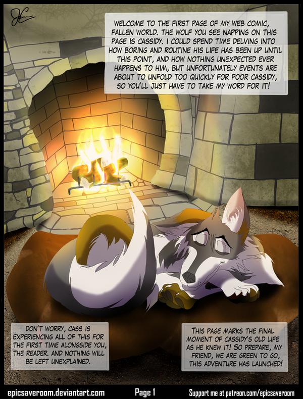 Fallen World web comic! - Page 1 by EpicSaveRoom