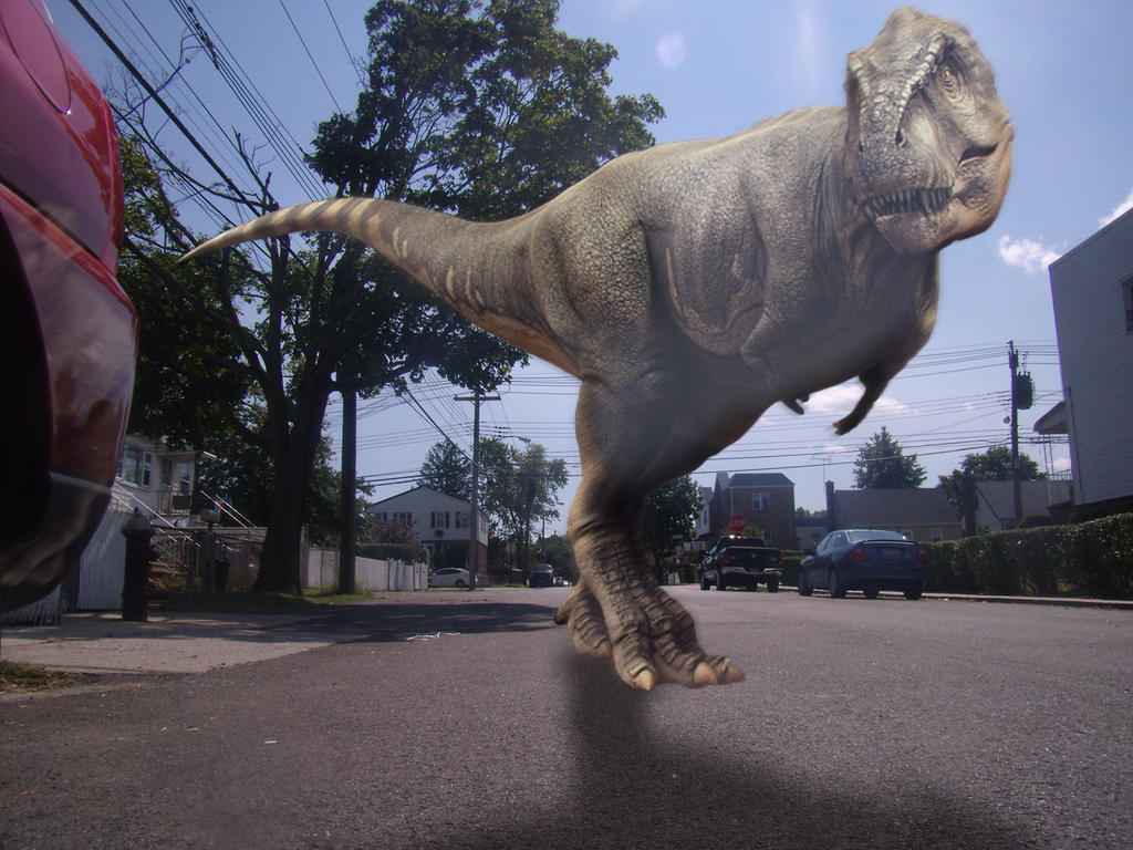 Dinosaur On Meagher Ave by bobbyboggs182