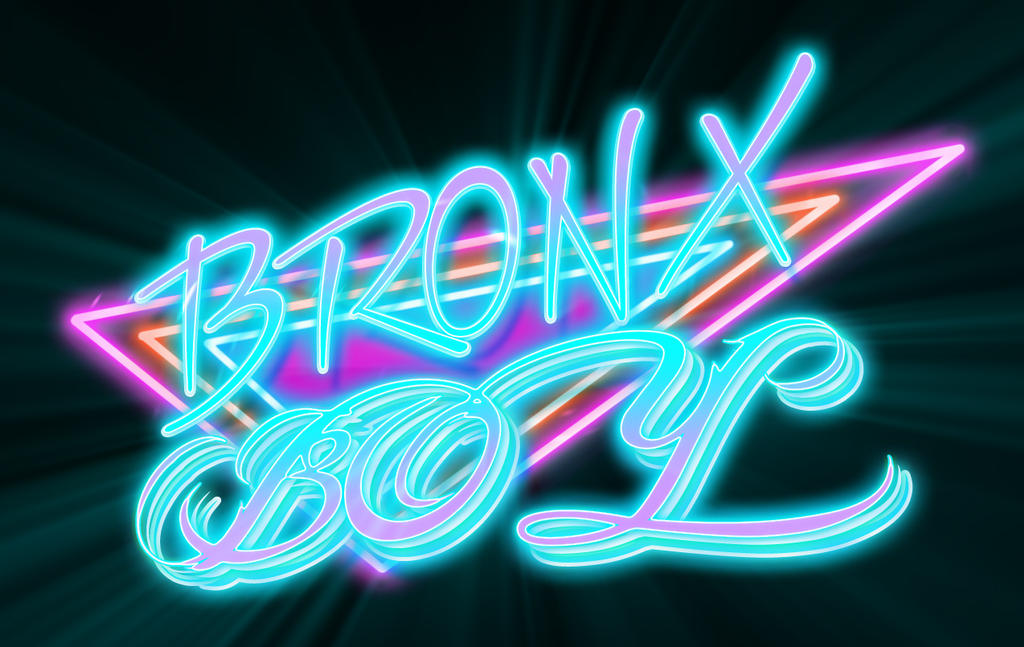 Bronx Boy Retro Neon by bobbyboggs182