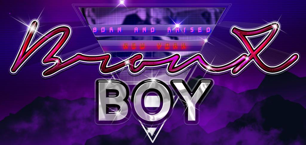 Bronx Boy Retro RacerText by bobbyboggs182
