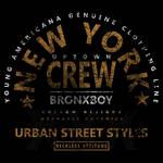 Bronx Boy Badge Grunge