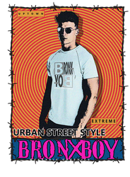 Bronx Boy Street Graphics PNG