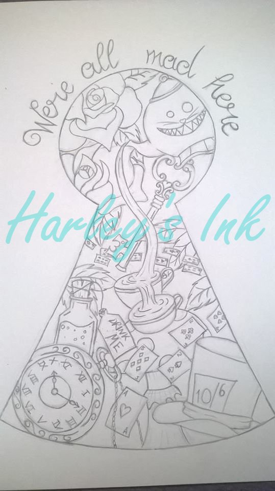 Alice in wonderland design (NOT FOR USE) by InmateHarley