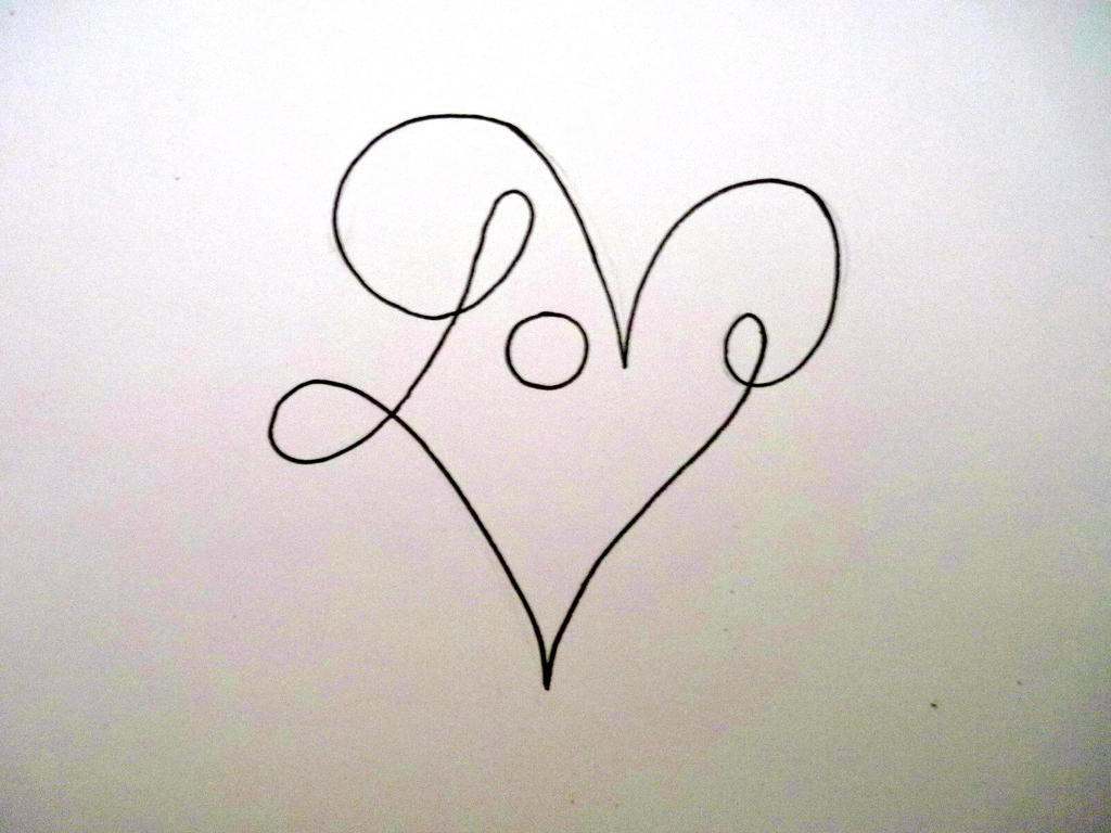 Heart drawing designs love the image for Love the design