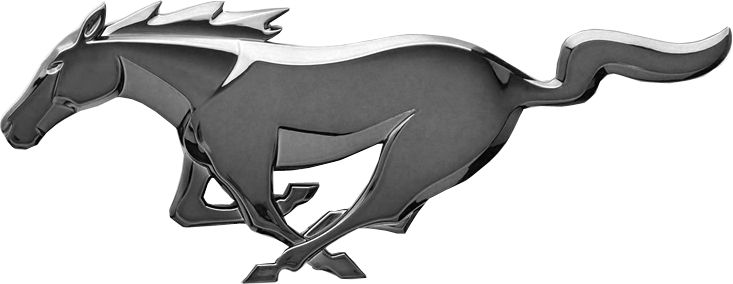 логотип мустанг: