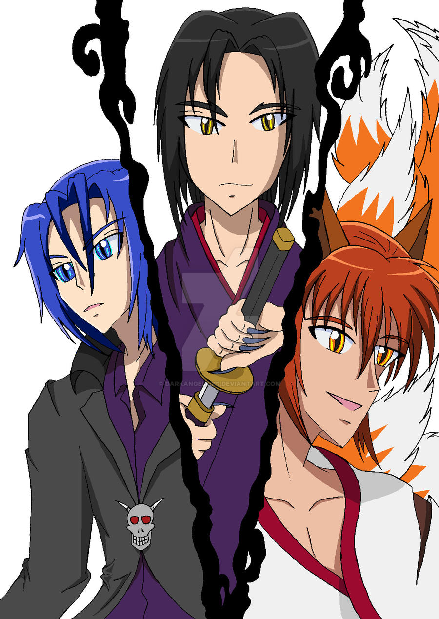 Anime guys three friends unite part 1 by darkangel6021