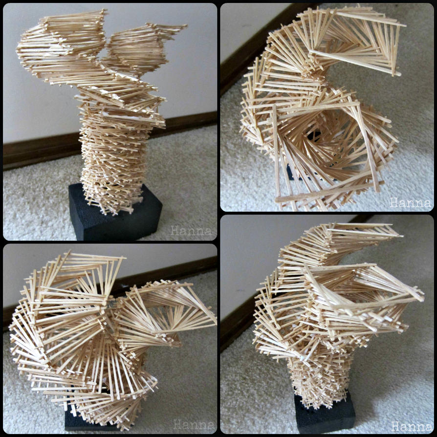 Toothpick Sculpture By Adhd Art On Deviantart