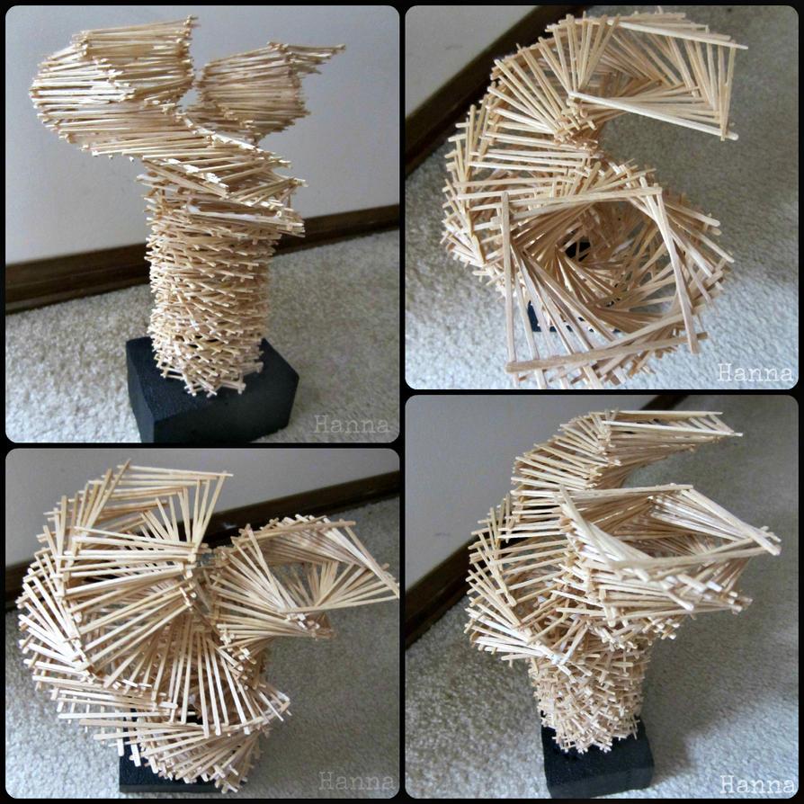 Toothpick Sculpture toothpick sculptureadhd-art on deviantart
