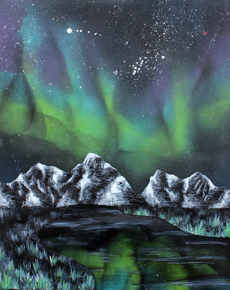 Northern Lights By ADHD Art On DeviantArt