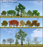 *ANOTHER UPDATE* Forest trees pack - FH meshes