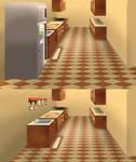 Toriel's house concept art - kitchen