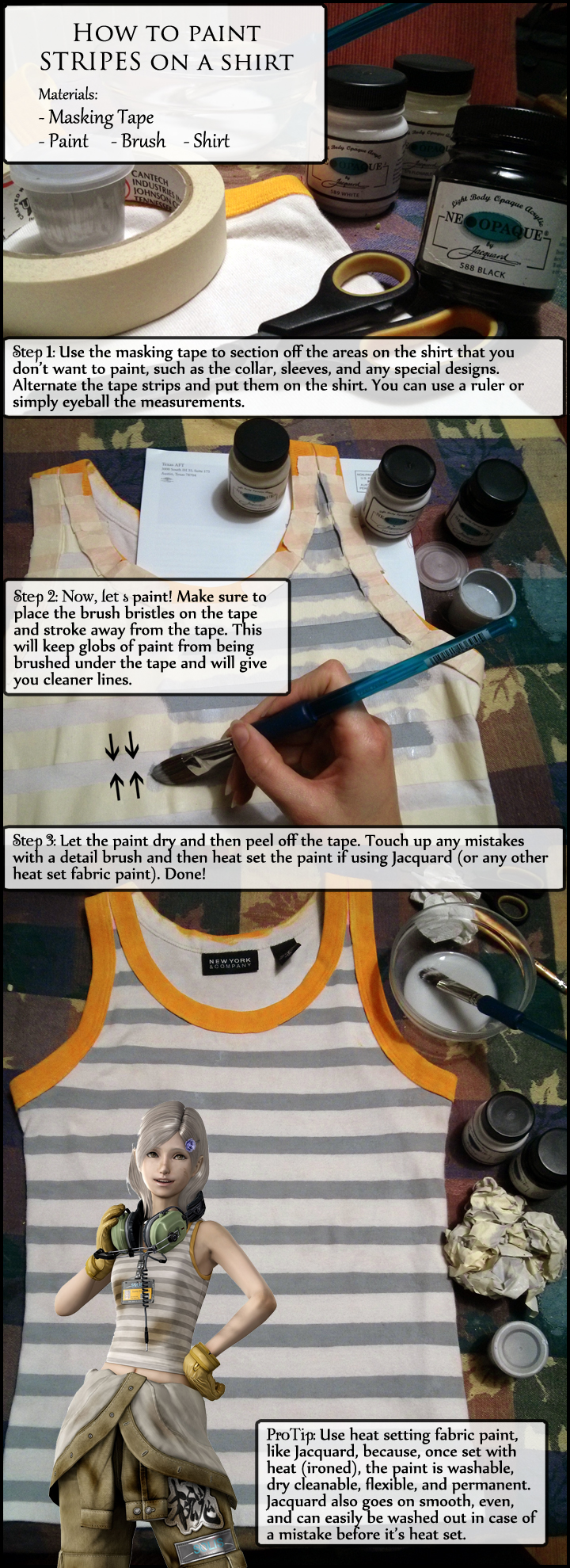 How to: Paint Stripes on a Shirt