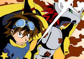 Digimon eyecatch TTGL style by Irengard