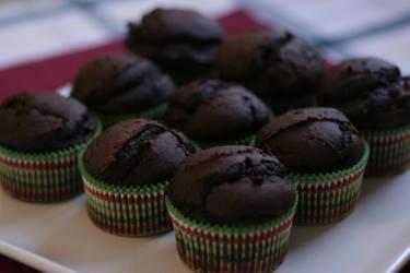 Vegan ChocoPumpkin Cupcakes by GhostHorseStudio