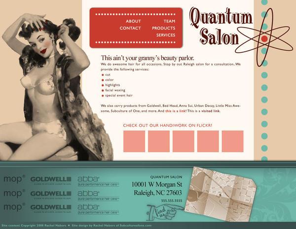 Quantum Salon Web Design by rachelthegreat