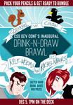 Drink-n-draw Poster for CSS Dev Conf