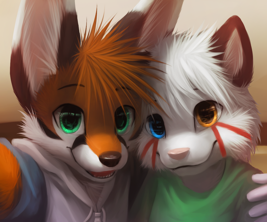 S Fur Couples Anthro Cat And Fox