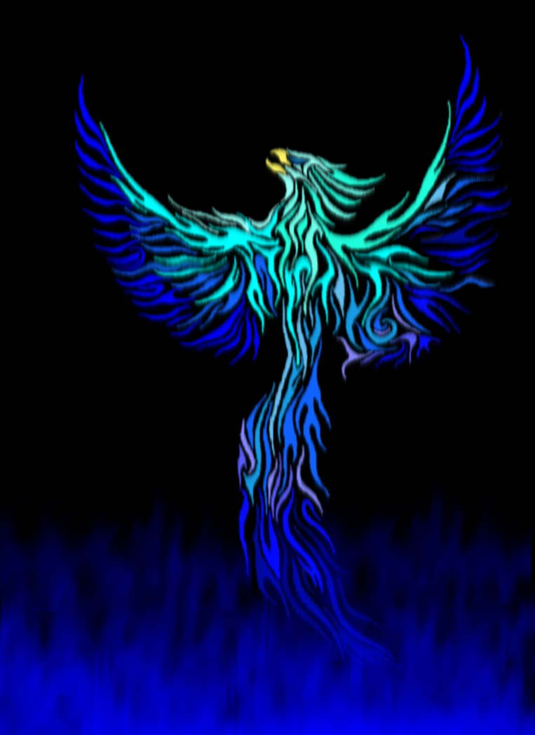 Blue Phoenix By Glacier Phoenix On Deviantart