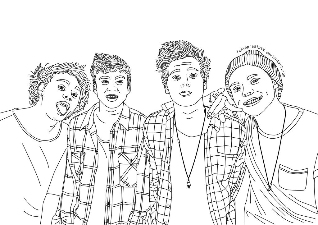 5 seconds of summer coloring pages - 5 seconds of summer by fasyapradipta on deviantart