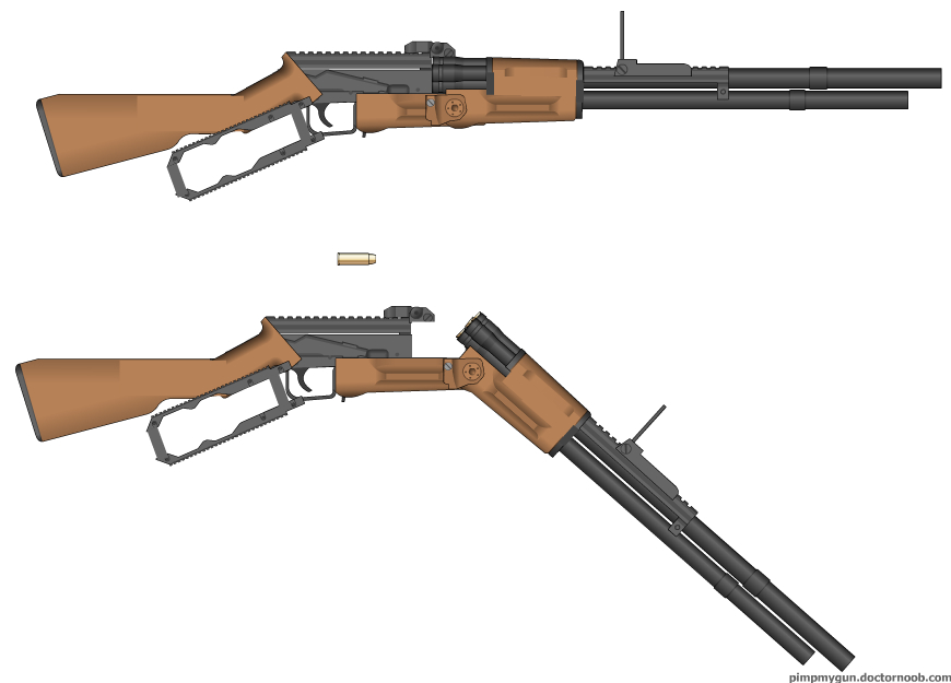 Lever action-revolving rifle by A13jandr0169