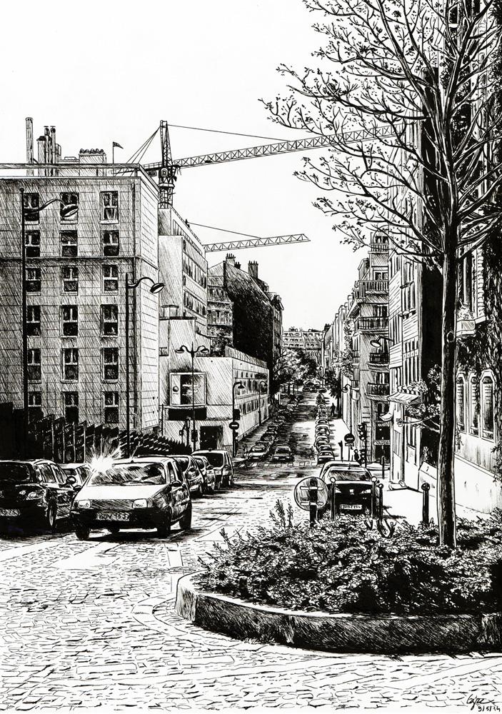 Sunny Paris Street by gaucelm