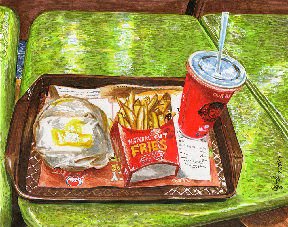 A Meal At Wendy's by gaucelm