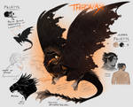 Theonax - messiest character sheet ever