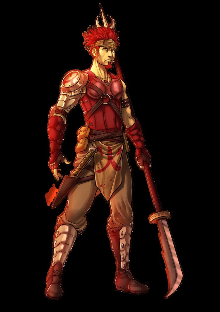 RPG Character Design Commission by KuraKaminari