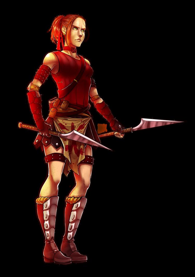RPG Character Design Commission II by KuraKaminari