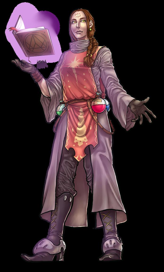 RPG Character Design Commission IV by KuraKaminari