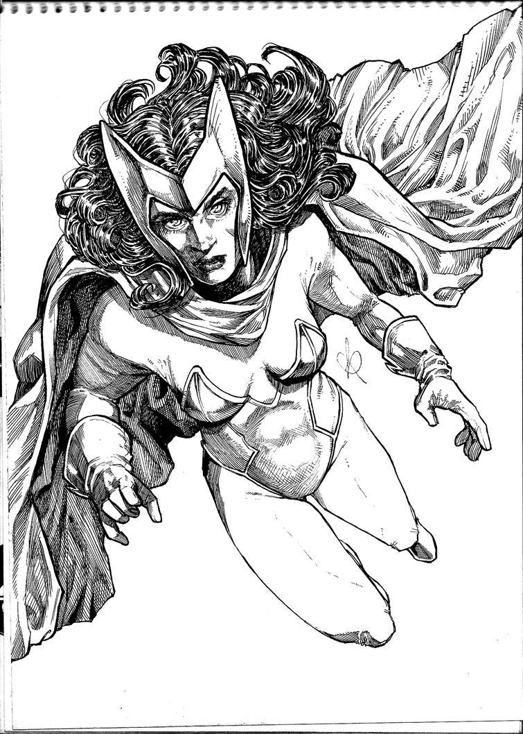 Scarlet Witch INKS by KuraKaminari