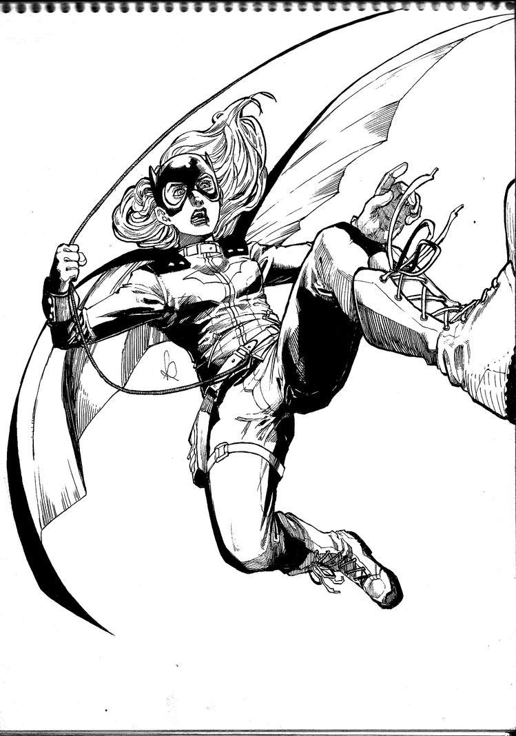 Batgirl INKS by KuraKaminari