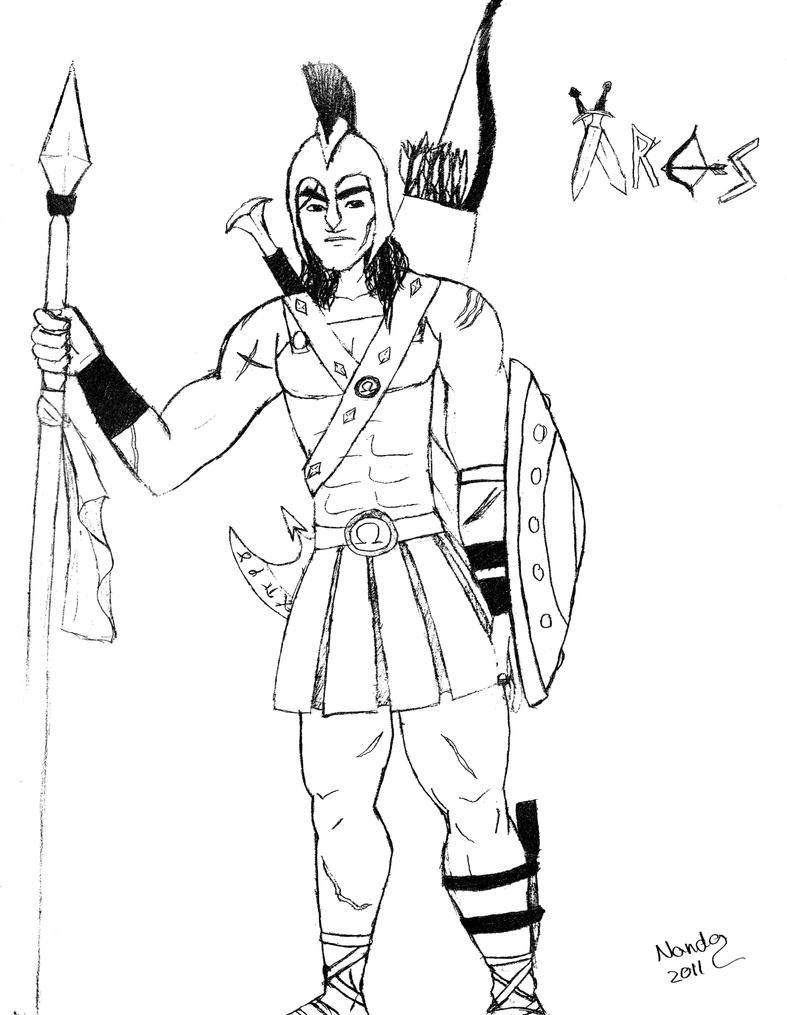 Greek God Ares Drawing How to draw Greek God ...