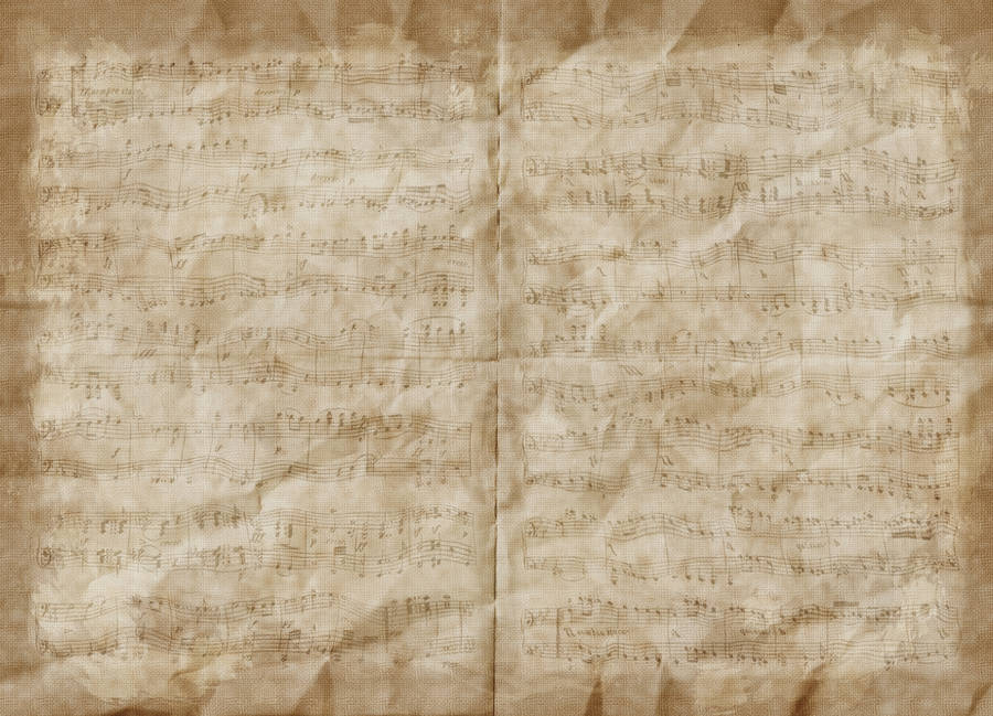 Texture - Crumpled Music Paper (Brown) by humphreyhippo