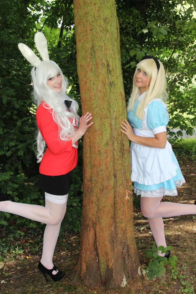 Alice + The White Rabbit Cosplay by AverageCosplays