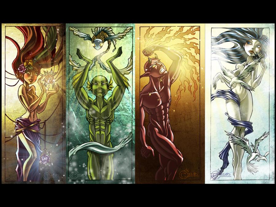 8 Art Elements : Embodiment of the elements by christophercielos on deviantart
