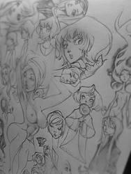 Sketchbook - Female Study by christophercielos