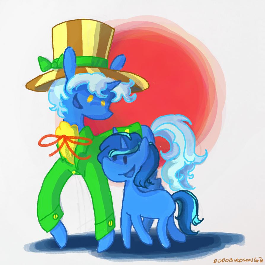 Brilliant Blue Unicorns by thedodobirdsong