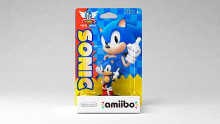custom amiibo: classic/pixel sonic