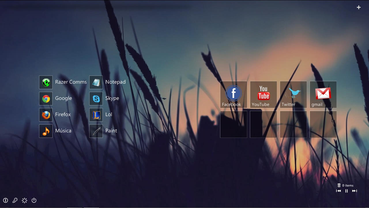 Minimal Desktop Rainmeter March 10, 2013 by blukhandy on