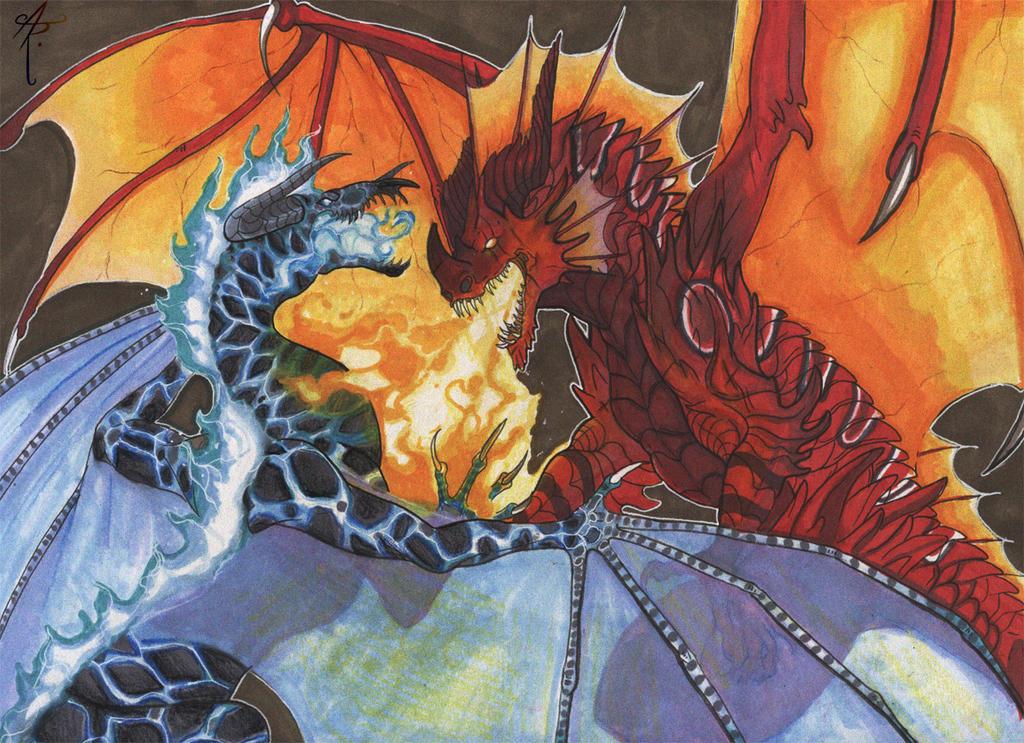 Hellfang and Darkshadow by PhantomStalker