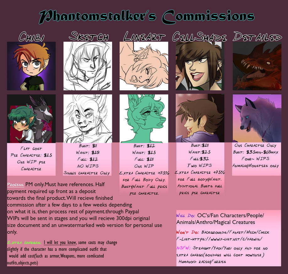 Commission Information by PhantomStalker