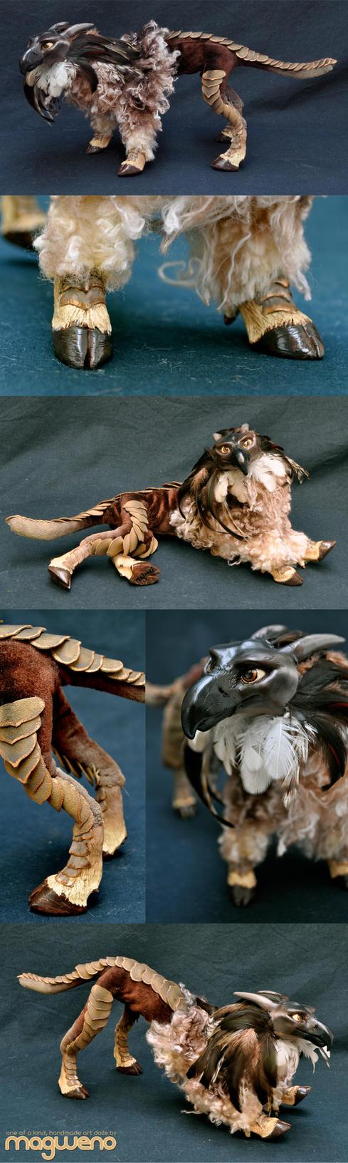 Goat+Pangolin+Harpy Eagle by Magweno