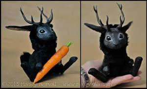 Black Jackalope by Magweno
